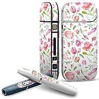 IQOS 専用 COMPLETE アイコス 専用スキンシール 全面セット サイド ボタン スマコレ チャージャー カバー ケース デコ 花柄 ピンク かわいい 011876