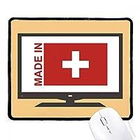 スイスの国が好きで マウスパッド・ノンスリップゴムパッドのゲーム事務所