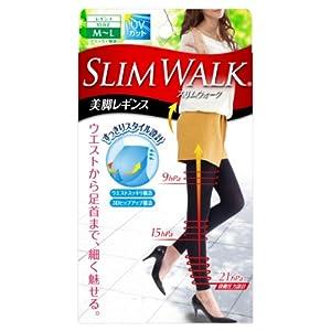 スリムウォーク 美脚レギンス M-Lサイズ ブラック(SLIM WALK,leggings,ML)