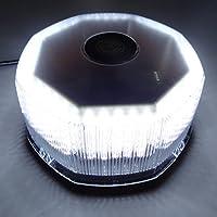 KESOTO 240 LEDトラック 車屋上ラウンドフラッシュストロボ 警告ハザード電球 - 白, 説明したように