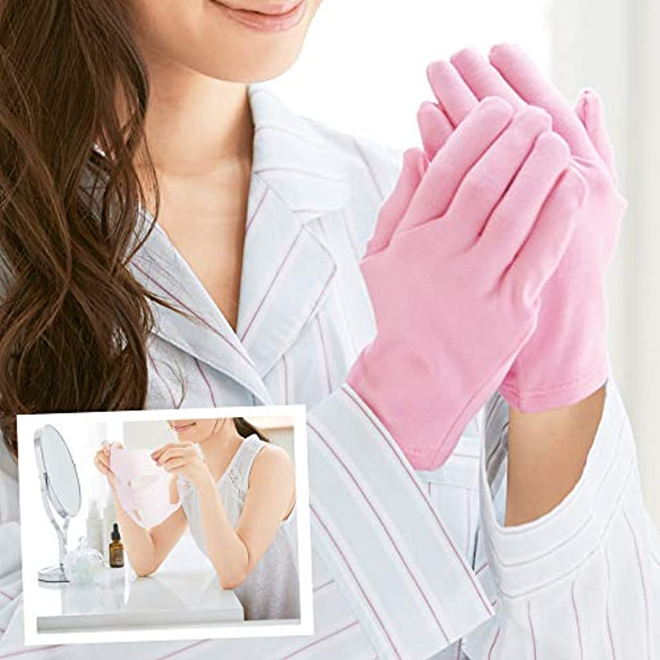 蓮二次空虚うるり肌 シリコンマスク&ナイトケア手袋 保湿ケア 保湿手袋