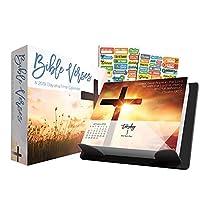 Bible Verses 2019 カレンダー ボックスエディションセット デラックス2019 聖書の言葉 曜日と10回以上のカレンダー 100以上のカレンダーステッカー付き (聖書の詩のギフト オフィス用品)