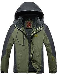 koson-man Mans秋冬暖かいアウトドアハイキング防風防水ジャケット