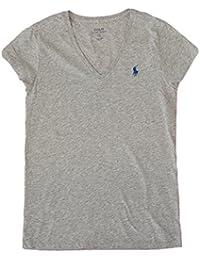 (ポロ ラルフローレン) POLO Ralph Lauren 半袖 Tシャツ ワンポイント レディース Vネック [並行輸入品]