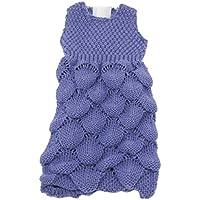 ノーブランド品  可愛い ノースリーブ セーター ドレス 18インチアメリカ女の子人形適用 装飾 2色選べる - 紫
