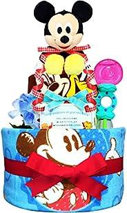 KanonBabys おむつケーキ 男の子 ミッキー 出産祝い 2段 Sサイズ Mサイズ 3001