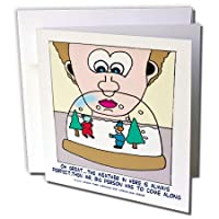 Londons Times Funny音楽漫画–クリスマス雪Shaker and The Big Person–グリーティングカード Set of 6 Greeting Cards