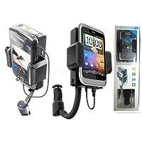 iphone5/GALAXY/HTC対応 3.5mm to FMトランスミッター 通用型