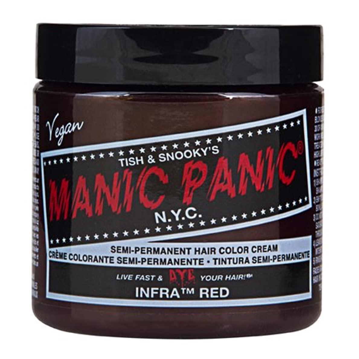 男らしいクロス本当にスペシャルセットMANIC PANICマニックパニック:Infra Red (インフラ?レッド)+ヘアカラーケア4点セット