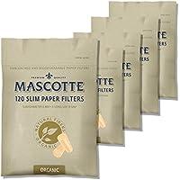 MASCOTTE(マスコット) スリムペーパーフィルター 無漂白 ロングサイズ 120個入5袋パック 7-65012-75