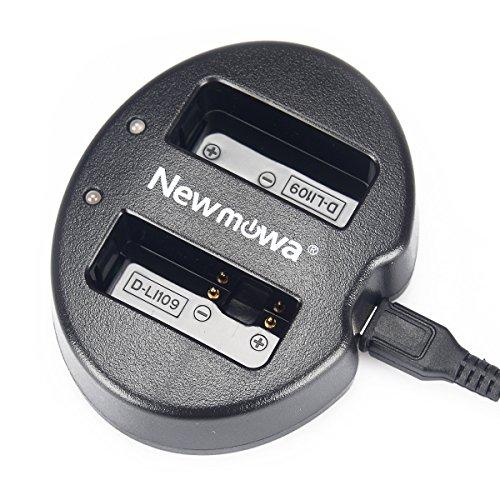 Newmowa D-Li109 対応 USB充電器 デュアルチャネル バッテリーチャージャー 互換急速充電器 Pentax D-Li109 Pentax K-R K-30 K-50 K-500 K-S1 K-S2