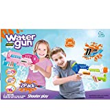新しい水鉄砲おもちゃ宇宙戦闘水鉄砲男の子/女の子水のおもちゃ夏のビーチ遊び大人のSurfng玩具(ピンク) ( Color : Pink , Size : M )