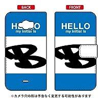 [Disney Mobile on docomo SH-02G/docomo専用] Coverfull スマートフォンケース 手帳型スマートフォンケース Cf LTD ハロー イニシャル アルファベット B (ブルー) DSH02G-IJTC-401-MDB7