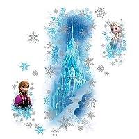 アナと雪の女王 アナ エルサ 氷の宮殿 ジャンボ ステッカー 並行輸入品
