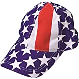 12 PATRIOTIC baseball caps - Red White and Blue USA hats