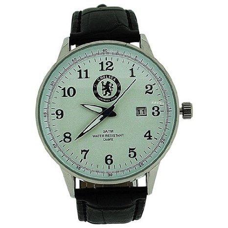 Chelsea FC アナログ Date Genuine Black レザーストラップ Football Watch GA3761 メンズ 男性用 腕時計 ウォッチ(並行輸入)