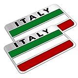 イタリア国旗ステッカー 車 フラッグ アルミ プレート イタリア車FIAT Ferrari Alfa Romeoなどに - 980 円