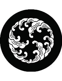 家紋シール 波の丸紋 布タイプ 直径40mm 6枚セット NS4-2556
