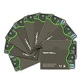 Tenn Well RFIDスリーブ, 10pcsスキミング防止カードケース (グレー)