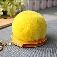 HuaQingPiJu-JP ミニ円形形状のぬいぐるみ小さなガラスミラー工芸装飾化粧品アクセサリー黄色