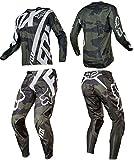 FOX フォックス360オフロード長袖Tシャツ上下セット吸汗、速乾、通気 [並行輸入品] (XL/36, グレー)