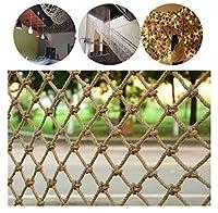 階段遊び場庭の壁の装飾のバンドル製品の場合、屋外の子供の保護ネットセーフティネット、エフェドラロープネットクライミング織ロープトラック貨物トレーラーメッシュサンプロテクション、 (Size : 5*5M)