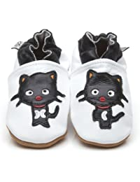 Soft Leather Baby Shoes Black Cat [ソフトレザーベビーシューズ黒猫] 6-12 months (12 cm)