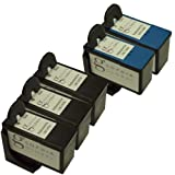 Sophia Global Remanufactured Ink Cartridge Replacement for Lexmark 4 and Lexmark 5 (3 Black, 2 Color)