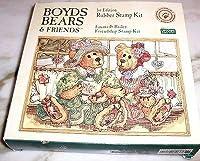 Emma & Bailey Friendship Rubber Stamp Kit - Boyds Bears & Friends