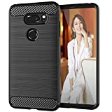 SNOSHO LG V30 Case, LG V30+ case, LG V35 Case,LG V35 ThinQ Case,Slim Thin Silicone Soft Skin Flexible TPU Gel Rubber Anti-Scratch shockproof Carbon Fiber Pattern Protective Case Cover for LG V30,black