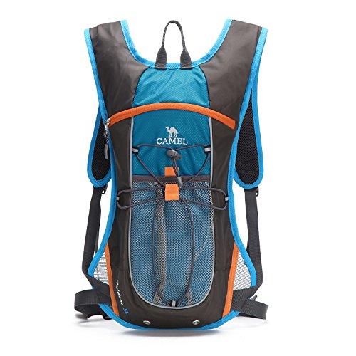 サイクリングバッグ CAMEL ハイドレーションバッグ ハイキング バックパック アウトドア リュック 5L容量 超軽量 通気 防水 登山バッグ 防災 旅行兼用