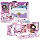 ミミワールドリトルミミバッグハウスのおもちゃセット女の子のための韓国のバービー人形、変身ハンドバッグの家 Little Mimi Bag House Toy Set Korean Barbie Doll for Girl Kids, Trasforming Handbag House [並行輸入品]