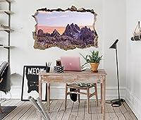 3D マウンテン 67 ウォールステッカー 壁の装飾 壁紙 壁画 三次元 突破口 世帯 ホームインテリアフォト Carly (150*80cm)