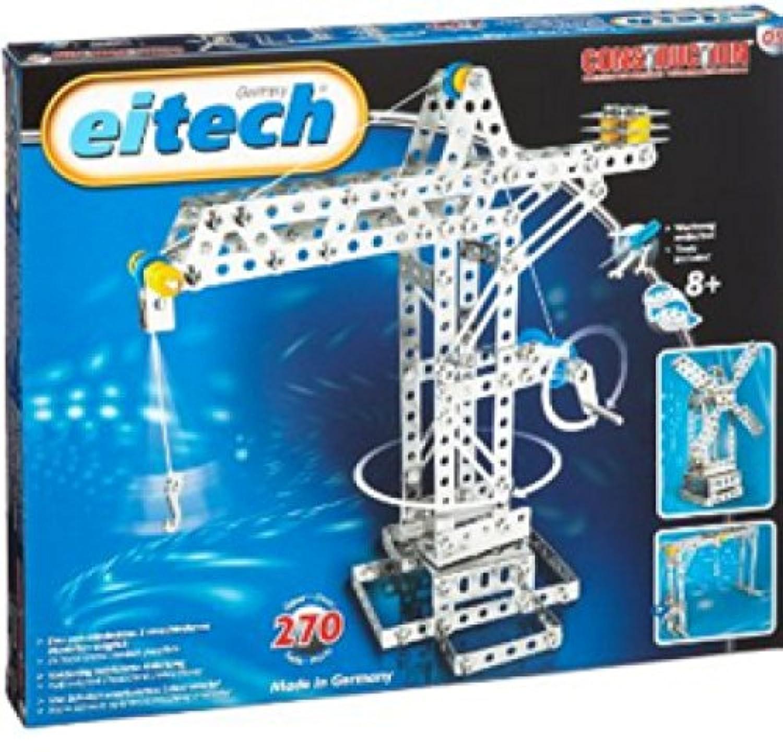 Eitech 00005 - Metallbaukasten - Kran / Hebebrücke / Windmühle Set, 270-teilig [並行輸入品]