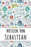 Notizen von Sebastian: Liniertes Notizbuch fuer deinen personalisierten Vornamen