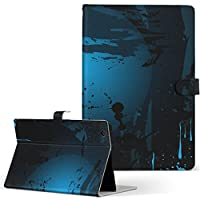 dtab Compact d-02H Huawei dtab Compact タブレット 手帳型 タブレットケース タブレットカバー カバー レザー ケース 手帳タイプ フリップ ダイアリー 二つ折り クール ハロウィン 青 ブルー 英語 文字 d02h-007355-tb