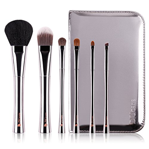 ドゥケア(DUcare)化粧筆 メイクブラシ 6本セット 高級天然毛 中光峰&イタチ毛&ポニー 口金は貴重な銅を使用