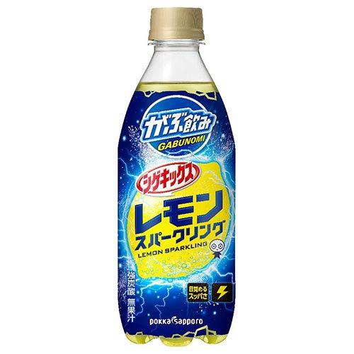ポッカサッポロ がぶ飲み シゲキックス レモンスパークリング 500mlペットボトル×24本入×(2ケース)