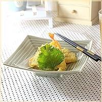 緑釉千段角盛鉢 鉢 おばんざい料理 和食 和鉢 煮物鉢 高級感 貫入あり 国産 和食器 美濃焼 定番商品