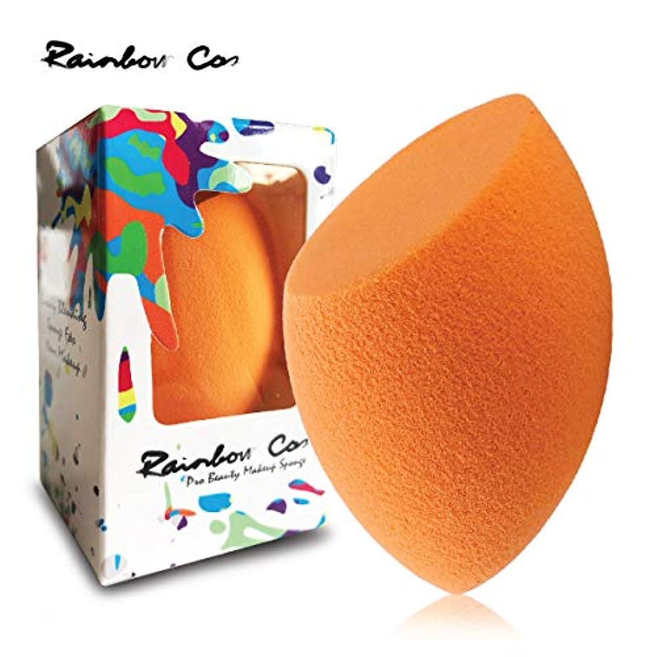 残酷な生活背骨Rainbow Cos Premium Flat Edge Olive Sponge Beauty Foundation Sponge Blender for Applicator, Foundation and Highlight...