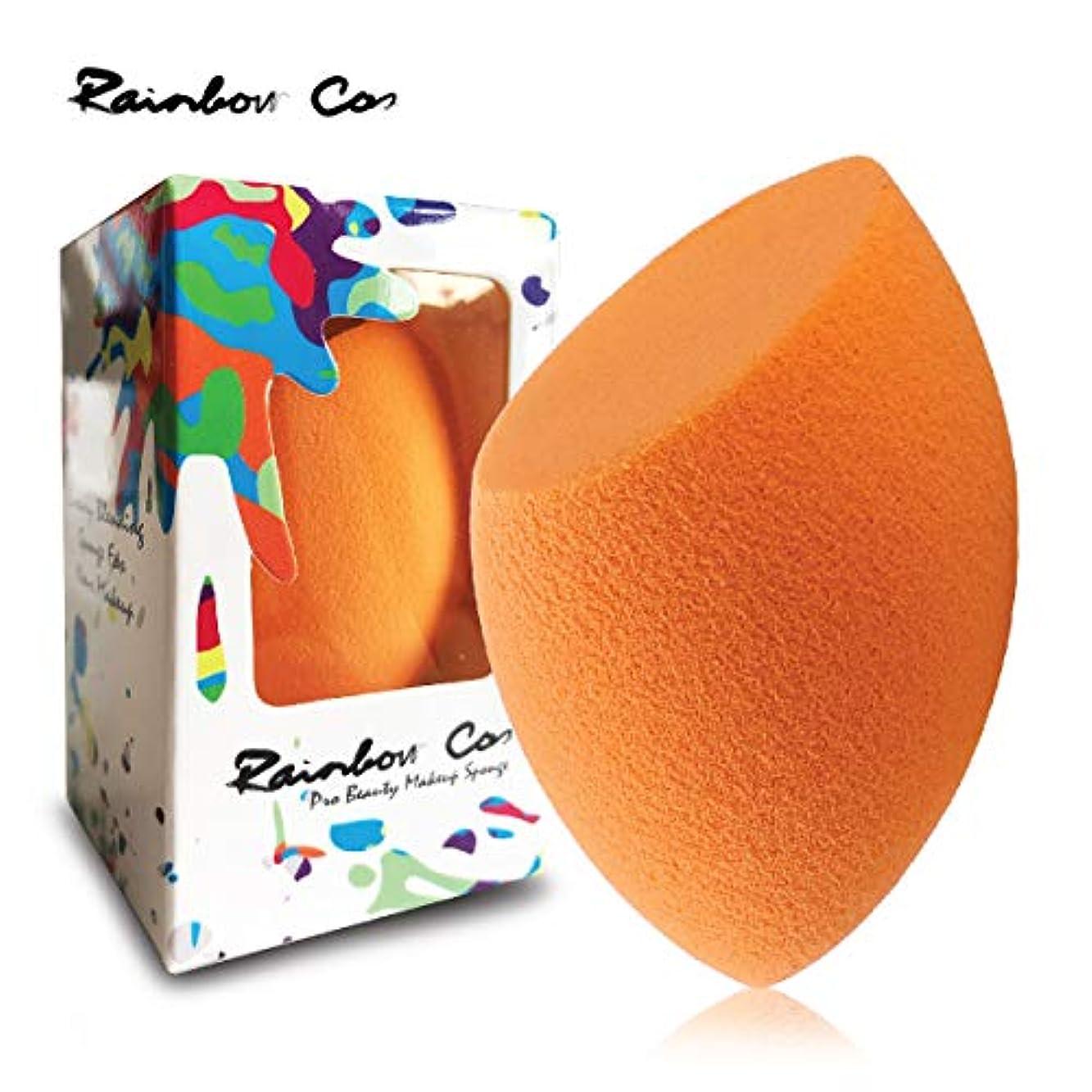 メモ後者便利Rainbow Cos Premium Flat Edge Olive Sponge Beauty Foundation Sponge Blender for Applicator, Foundation and Highlight...
