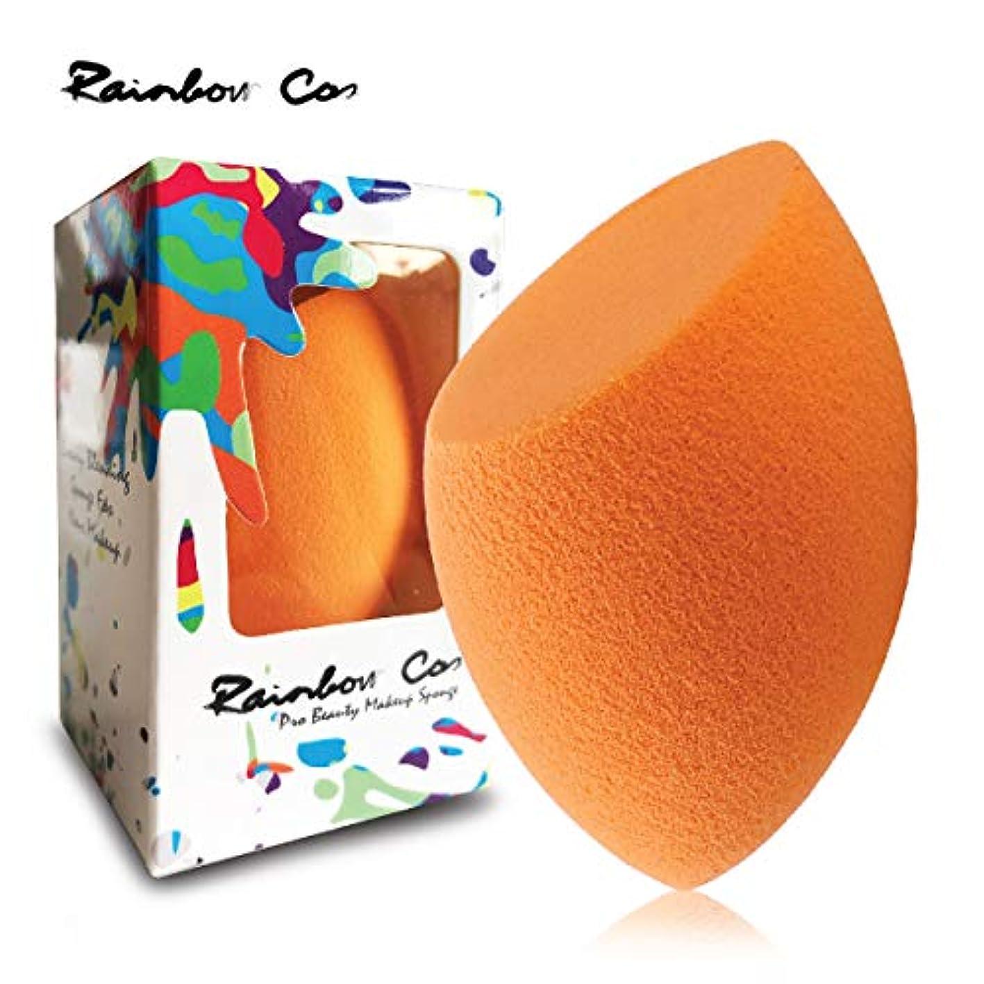 出撃者花に水をやる関連付けるRainbow Cos Premium Flat Edge Olive Sponge Beauty Foundation Sponge Blender for Applicator, Foundation and Highlight 斜めカット メイクスポンジ ファンデーションスポンジ 非ラテックス 乾湿兼用メイクスポンジ