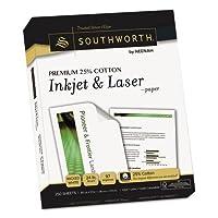 Southworth会社j344Cプレミアム25%コットンインクジェット/レーザー紙、ホワイト、97明るい、24lb、文字、250/ Pack