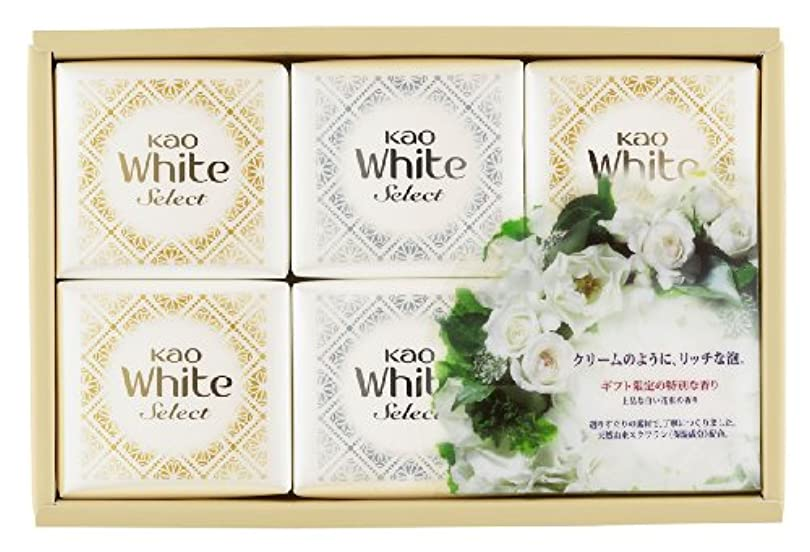 せせらぎストライプ財産花王ホワイト セレクト 上品な白い花束の香り 固形せっけん 6コ (K?WS-10)