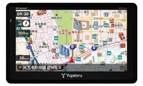 ユピテル 6.0型 ワンセグ内蔵 ポータブルカーナビ YPB6...