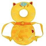 可愛いリュック Vsheila 赤ちゃんのごっつん防止やわらかリュック 乳幼児用 頭保護 怪我防止 よちよち歩きの赤ちゃんにぴったり 夏用 黄色いネコ