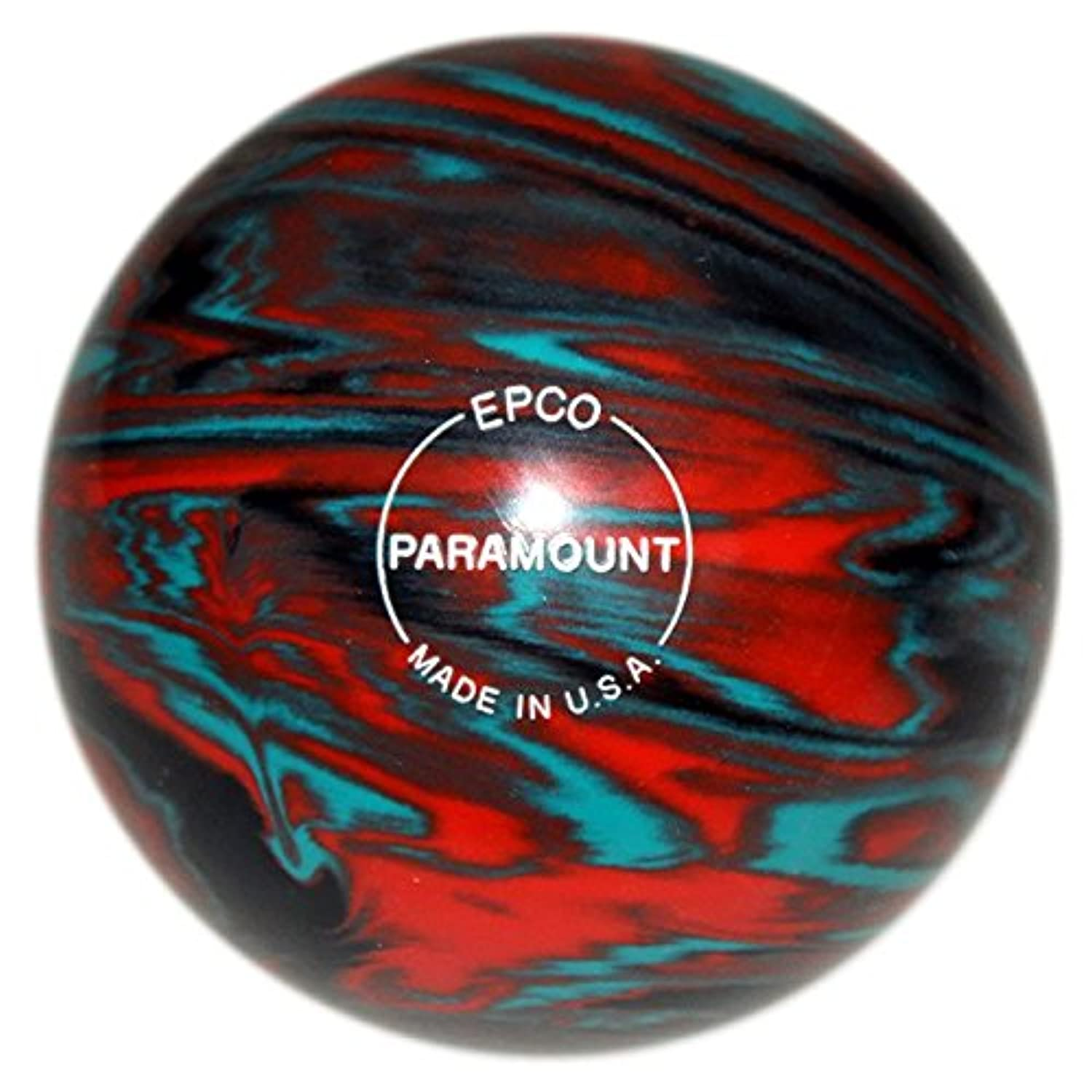 EPCO Paramount Marbleized Candlepin Bowling Ball – ティール、オレンジ&ブラック – 4ボールセット。。。