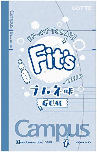 ロッテ Fit'sキャンパスノート(ラムネ味) 12枚 ×10個