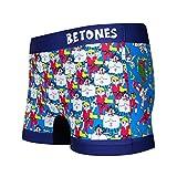 BETONES(ビトーンズ)「BETONES×STREET FIGHTER2」コラボ アンダーウェア ボクサーパンツ ショート ユニセックス プレゼント STREET FIGHTER2-STF003 (2 BLUE)