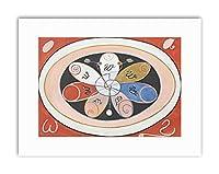 Abstract Geometry Hilma Af Klint Painting Canvas Art Print